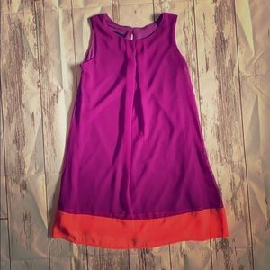 Fuchsia and orange slip dress